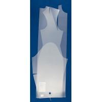 Лекало выкройка-основа платья (блузы), размер 40