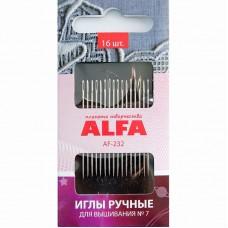 Иглы ALFA для вышивания № 7 AF-232