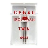 Иглы Organ двойные универсальные № 90/2 1 шт. 130/705.90/2,0.1.H