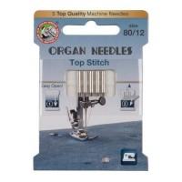 Иглы Organ Top Stitch № 80 5 шт. 130N.80.5.TOP.ST. ECO