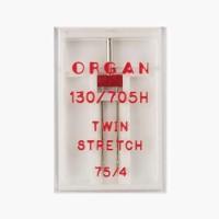 Иглы Organ двойные стрейч № 75/4 1 шт. 130/705.75/4,0.1.H-SS