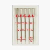 Иглы Organ для квилтинга №75-90 5 шт. 130/705.75-90.5.H-QU