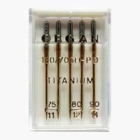 Иглы Organ титаниум № 75-90 5 шт. 130/705.75-90.5.H-PD