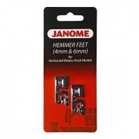 Комплект лапок Janome для подрубки 4 и 6 мм 200-326-001