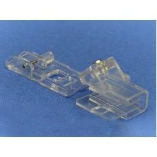 Лапка Merrylock прозрачная для двойной подгибки, вшивания ленты или косой бейки (25-28 мм) H10823B