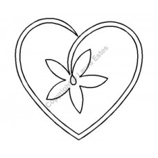 Трафарет для пэчворка Star Flower Heart
