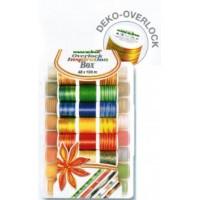 Набор ниток в пластиковом боксе Deco-Overlock Madeira (48 х 100м)