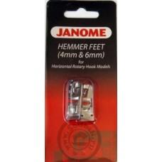 Комплект подрубочных лапок Janome 4 и 6 мм (в блистере)