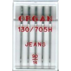 Иглы Organ для джинсы № 90 5шт.